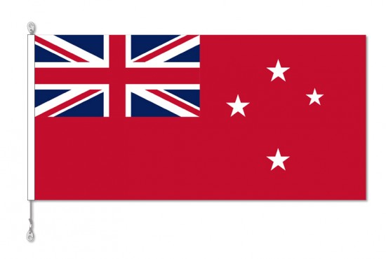 New Zealand, NZ Red Flag with Sister Clips