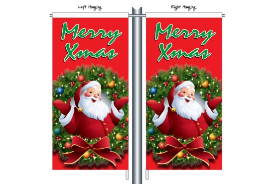 Santa with Wreath Red CSB1202