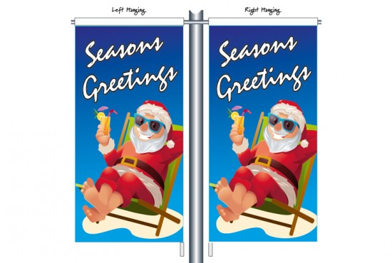 Santa in Deck Chair CSB1212 Street Banner
