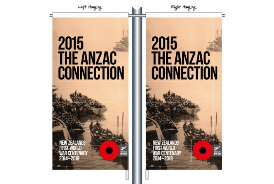 2015 The Anzac Connection Black RSA04 - Anzac Day Street Banner