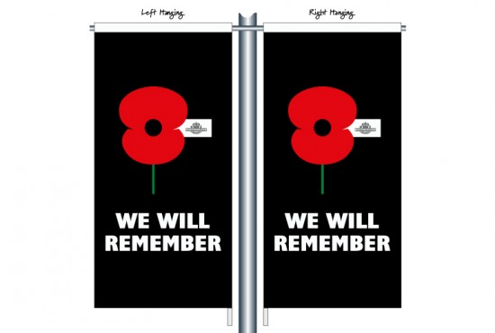 RSA09 We Will Remember Street Banner