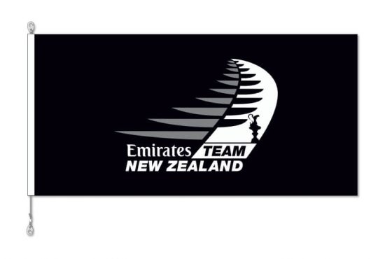Emirate Team New Zealand flag with Sister Clips
