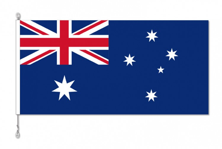 Australia flag with sister clips