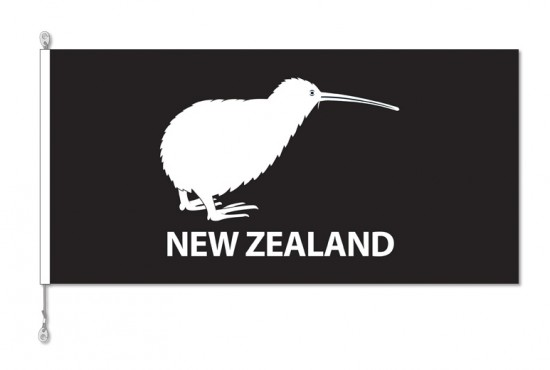 New Zealand, NZ Kiwi Bird Flag with Sister Clips