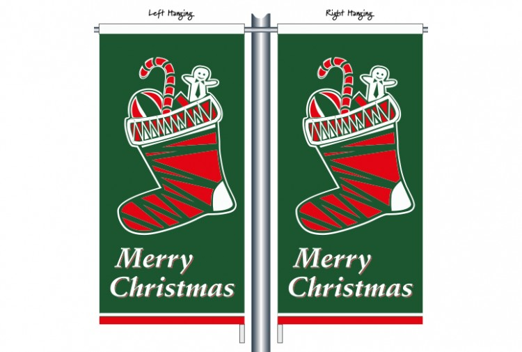 Christmas Green Stocking CSB1106
