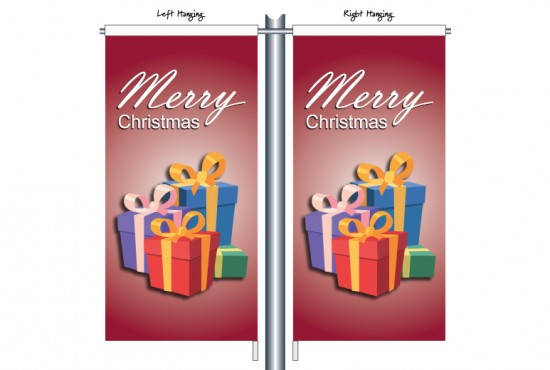 Merry Christmas Presents Red Background CSB1208
