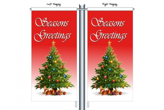 Seasons Greeting Tree in Red CSB1214