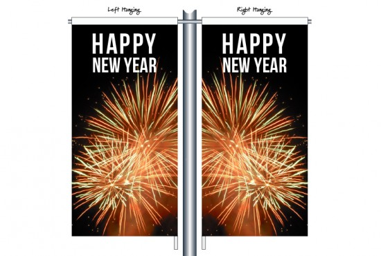 Happy New Year Firework CSB1505 Street Banner