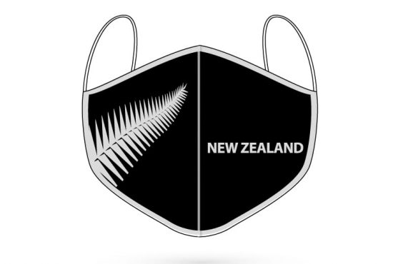 New Zealand Silver Fern digitally printed 3 ply face mask