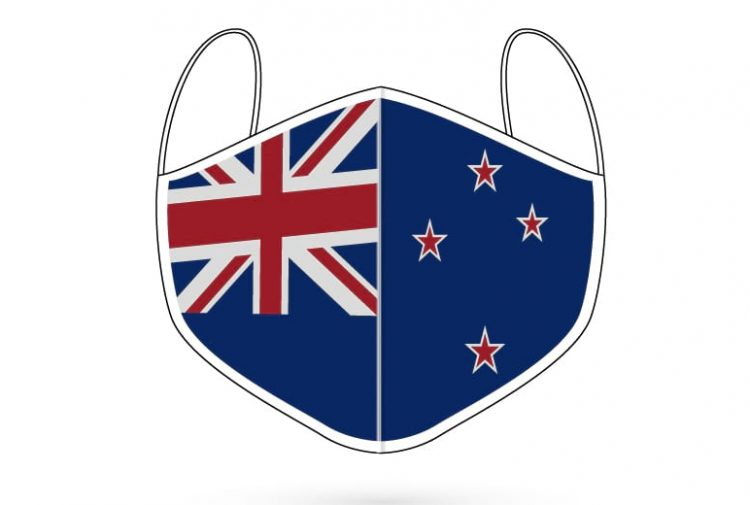 New Zealand digitally printed 3 ply face mask